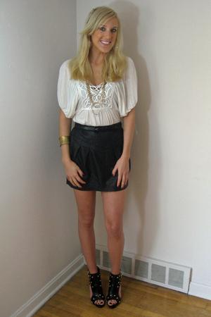 Forever 21 top - Forever 21 necklace - Forever 21 skirt - Forever 21 shoes - For