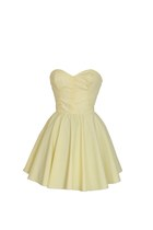 Pastel Yellow Party Prom Dress