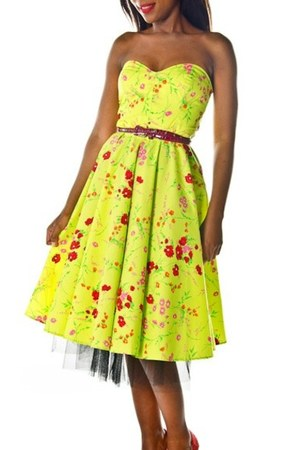 lime green Style Icons Closet dress