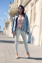 Zara jeans - vintage Levis jacket - ankle strap Melissa wedges
