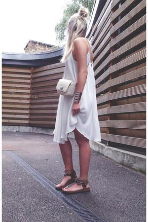 loose Sheinside dress - leather AlisonSmsn sandals