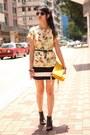 Gold-zara-bag-black-h-m-skirt