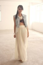 Sass and Bide necklace - One Teaspoon skirt - Ksubi vest