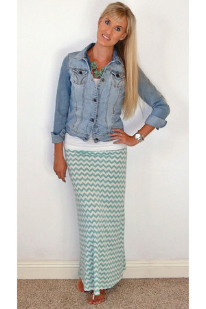 light blue Apricot Lane skirt