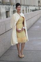 vintage dress - j renee shoes - vintage jacket - thrifted vintage purse