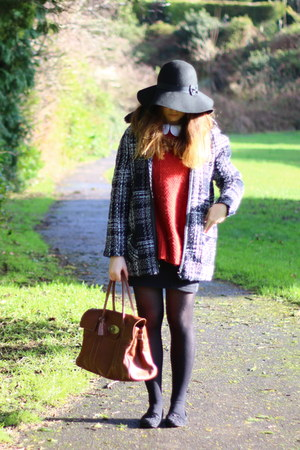Primark coat - asos shirt - Mulberry bag - River Island jumper - Newlook skirt
