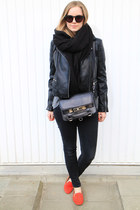 black leather whistles jacket - black PROENZA SCHOULER bag