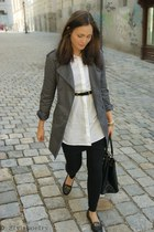 H&M coat - Monki dress - H&M bag - Topshop loafers
