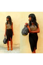 black draped MIKKAT MARKET skirt