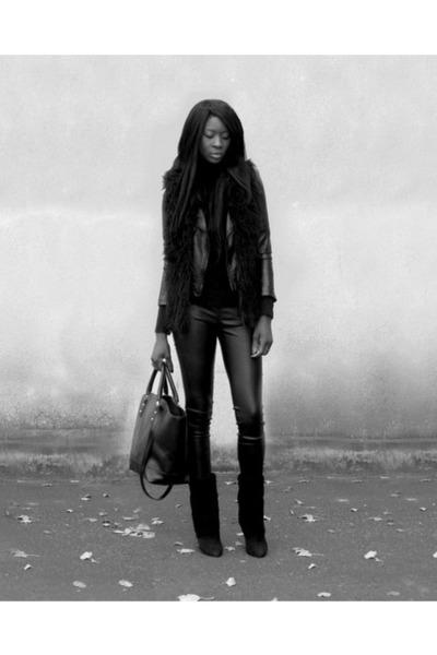 black wedge Choies boots
