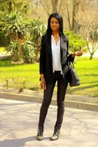 black studded boots Choies boots