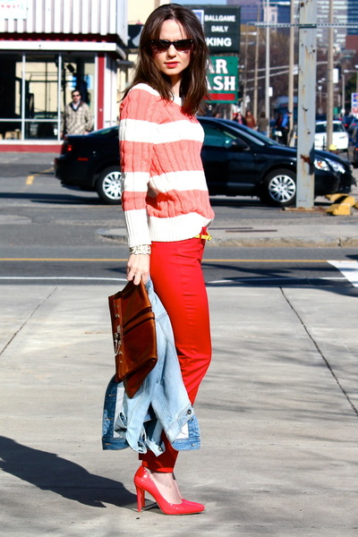 Gap pants - JCrew Factory sweater - Vince Camuto pumps