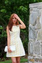 yellow Cremieux dress - Chanel bag