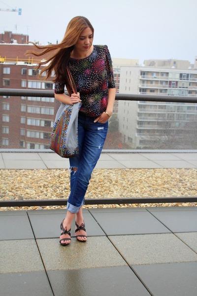 kanga Bahari Creations bag - distressed Gap jeans - sandal The Limited heels