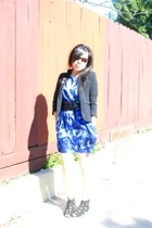 vintage blazer - Yaya Aflalo dress - Armani Exchange belt - Jeffrey Campbell sho