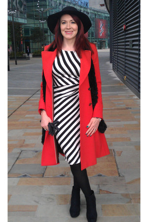 black red herring boots - jersey stripes F&F dress