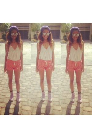 nike hat - nike shorts - H&M sunglasses - nike sneakers - nike top
