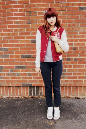 brick red Forever21 jacket