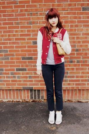 brick red Forever21 jacket