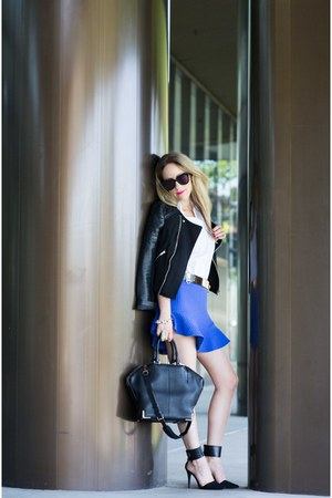 Zara skirt - faux leather Forever 21 jacket - Alexander Wang bag