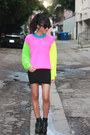 Black-harness-dolcetta-by-dolce-vita-boots-hot-pink-joyrich-sweater