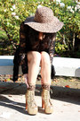 Gold-glitter-jeffrey-campbell-boots-dark-brown-leopard-jessica-simpson-hat-b