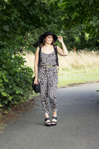 leopard print George At Asda romper - black flatforms Primark sandals