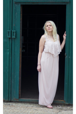 off white maxi Miss Selfridge dress
