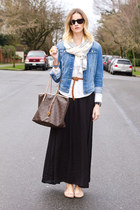 sky blue Zara jacket - light brown Michael Kors bag - black Zara skirt