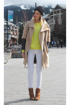 white Zara jeans - yellow Topshop sweater - silver botkier bag