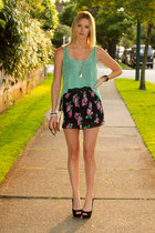 XO Bella skirt - aquamarine Zara top