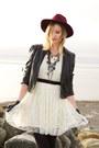 Black-zara-boots-off-white-white-lace-sugarlips-dress-maroon-h-m-hat