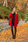 Red-zara-coat-navy-rag-bone-jeans-black-rebecca-minkoff-bag