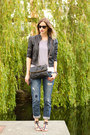 Blue-zara-jeans-black-forever-21-jacket-white-jcrew-top