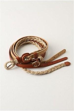brown 3-in-1 Anthropologie belt