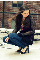 black Rodarte for Target cardigan - black Aqua necklace - blue J Brand jeans - b