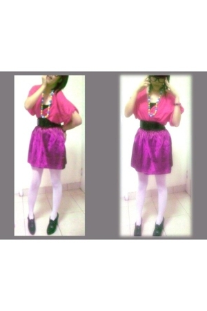 Topshop vest - belle shoes - stockings - mitchy bell skirt