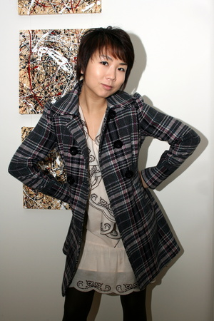 American Rag Plaid Topper Coat jacket - Le Saunda shoes