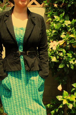 Fossil dress - Lux blazer - Fashion Club belt