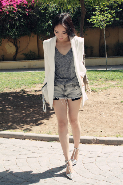 Zara blazer - Zara shirt - Zara purse - Zara shorts - Zara heels
