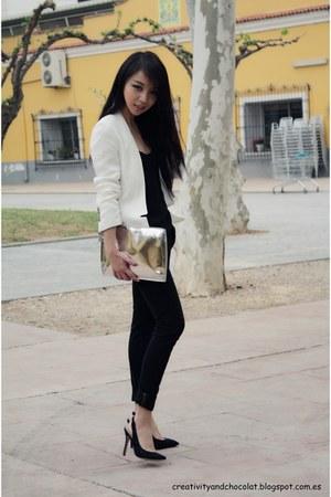 Zara jeans - Zara blazer - Zara purse - Zara pumps