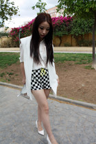 Zara purse - Zara shorts - Zara vest - Zara blouse