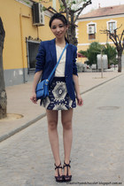 Zara blazer - Zara bag - Zara skirt - Zara sandals