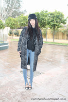 Zara coat - hm jeans - Dayaday hat - Nowhere heels