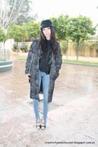 Zara coat - hm jeans - Dayaday hat - Nowhere heels