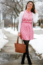 Nine West boots - Blooming Clothing dress - Ralph Lauren bag