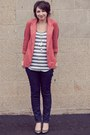 Salmon-urban-outfitters-blazer-charcoal-gray-express-blouse