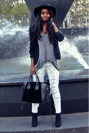 new york hat co hat - Ralph Lauren blazer - asos bag