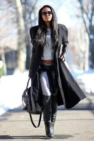 Skingraft coat - Zara sweater - Topshop necklace
