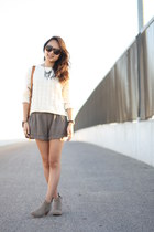 ivory Forever 21 sweater - camel DV by dolce vita boots